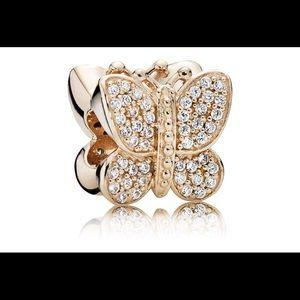 Pandora Rose Sparkling Butterfly